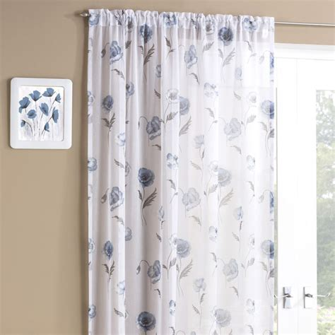 floral voile curtains blue meadow floral voile panel tonys textiles