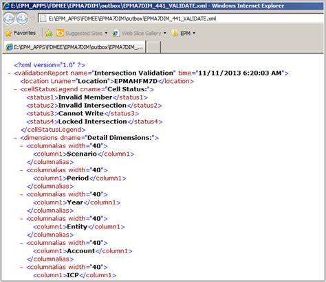 format file xsl fishing with fdmee intersection check report for hfm