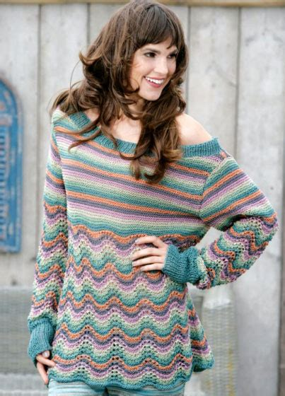 free boat neck sweater knitting pattern feather and fan stitch pullover free knitting pattern