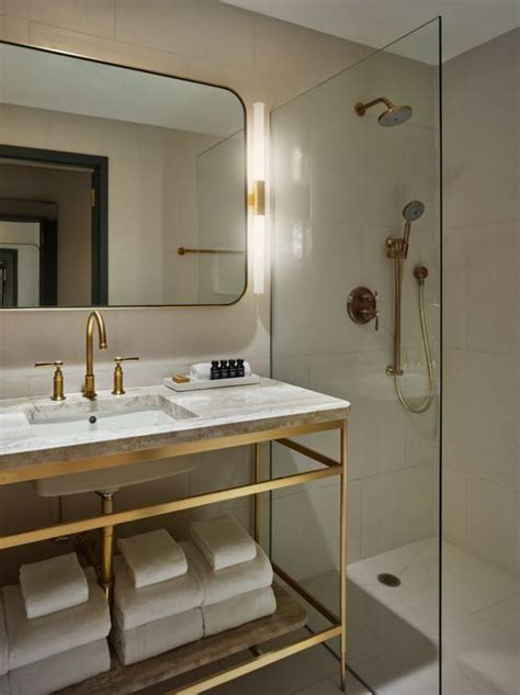 brass bathroom ideas  pinterest brass