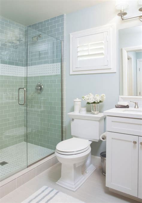 cottage bathrooms ideas coastal bathroom with aqua blue subway tile agk design
