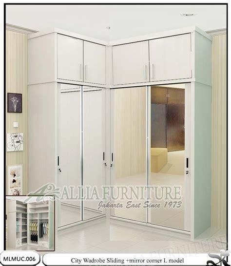 Lemari Pakaian Langdale White Duco Mahoni Untuk Baju lemari pakaian minimalis sudut city allia furniture