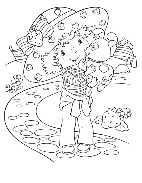 free coloring pages of strawberry shortcake