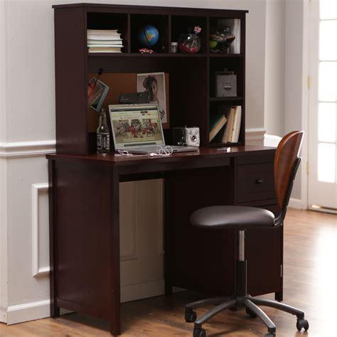 espresso desk with hutch piper desk with optional hutch set espresso desks
