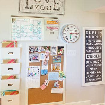 kitchen bulletin board ideas message station in kitchen design ideas