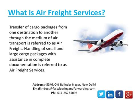 international air freight shipping service provider company india