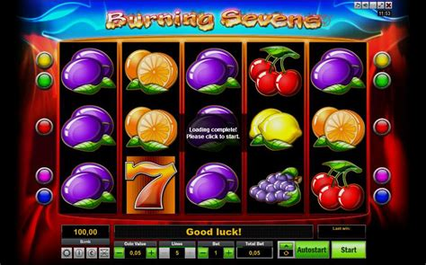 play burning sevens video slot from lionline for free