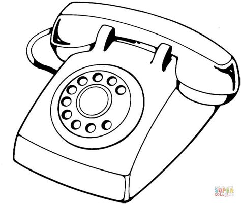 telephone device coloring page free printable coloring pages
