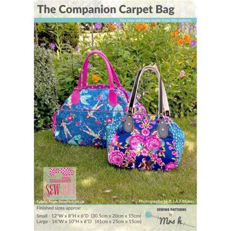 companion carpet bag  sewing patterns