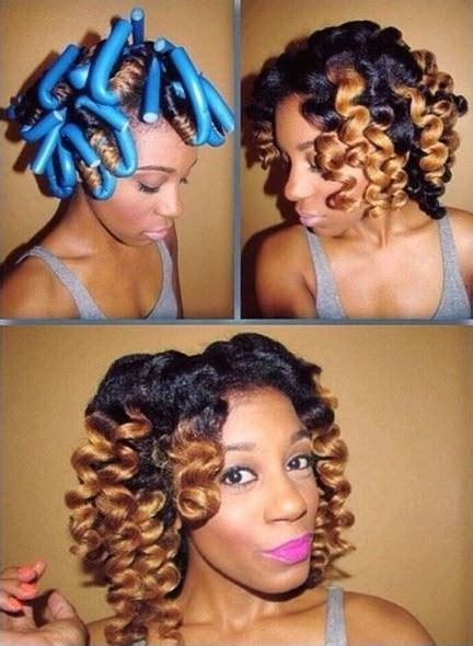 Rod Set Hairstyles by Lovely Flexi Rod Set Black Hair Information Community