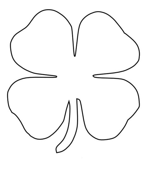 4 Leaf Clover Coloring Page pictures of a four leaf clover cliparts co