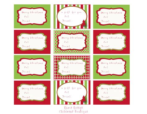 Free Printable Christmas Food Labels