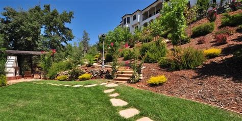 slope landscaping ideas for backyards landscaping ideas for hillside backyard slope solutions