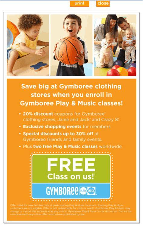 Gymboree Printable Coupon 20
