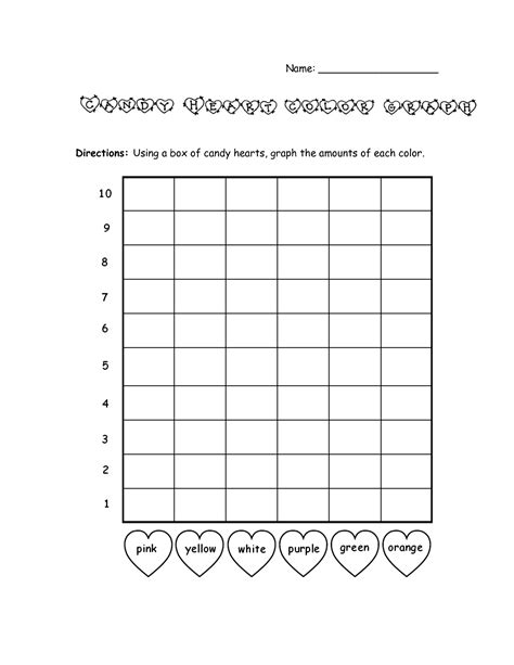 color graph bar graph template valentines day color