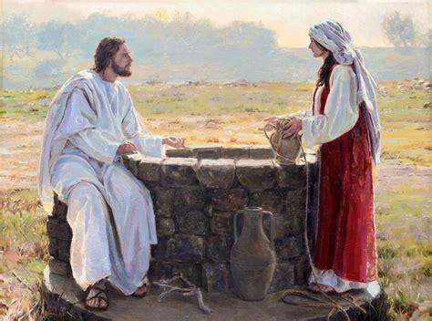 jesus christ   samaritan woman    signed