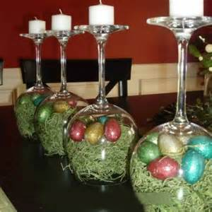 Decorating Ideas Glass Candle Holders Wine Glass Easter Egg Candle Holder Country