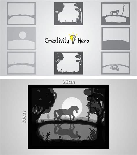 Papercut Lightbox Template How To Create A 3d Paper Cut Light Box Diy Project Creativity Hero