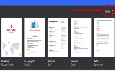 4 Great New Google Docs Templates For Teachers Educational Technology And Mobile Learning Menu Template Docs