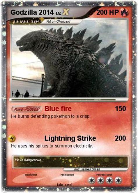 pokemon godzilla    blue fire  pokemon card