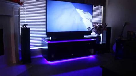 home theater system and custom entertainment cabinet with