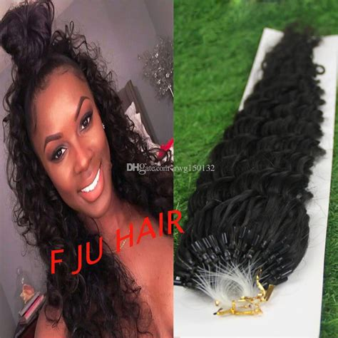 african american microlink hair extensions hot 100strandsnatural color 6a unprocessed african