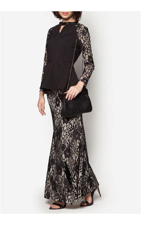 fesyen baju wanita dengan lace baju kurung moden oleh vercato mengetengahkan rekaan
