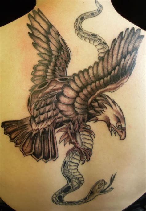 eagle with snake tattoo design busbones