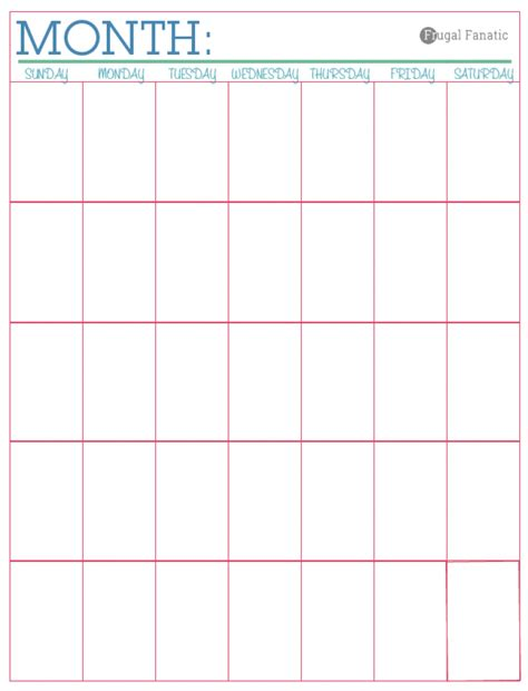 Blank Monthly Calendars Budgeting Worksheets Abitlikethis