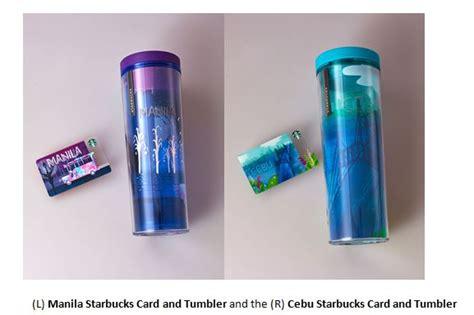 Starbucks Tumbler Iconic City starbucks philippine cards turn 3 new designs
