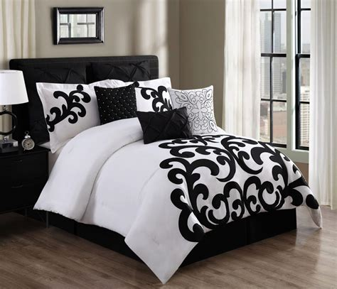 walmart black and white comforter 9 piece empress 100 cotton black white comforter set
