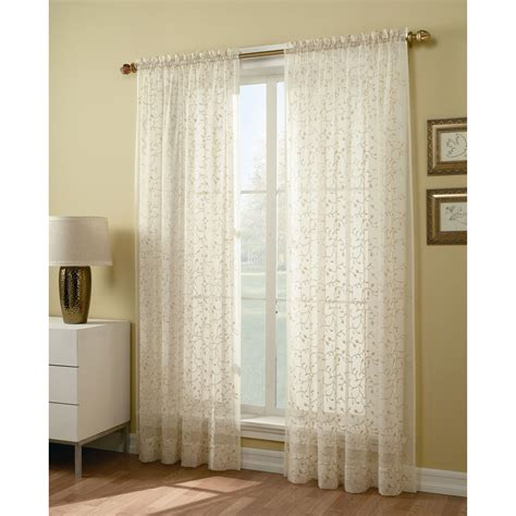 curtains 64 inches long 84 inch sheer window panel find voile curtains at sears