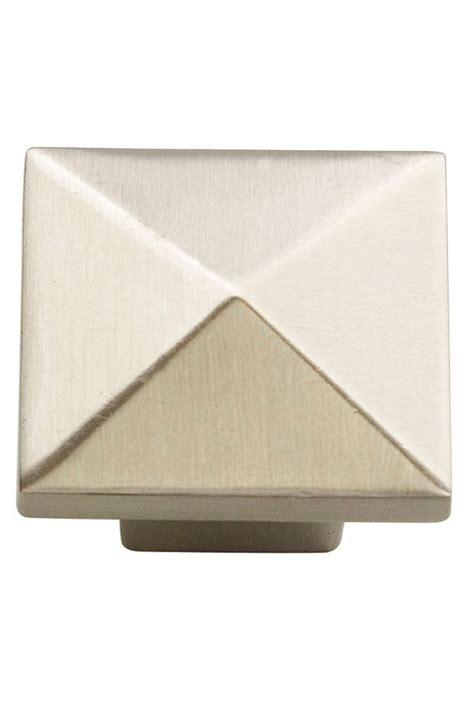 Kitchen Craft Hardware Pyramid Cabinet Knob In Brushed Nickel Kitchen Craft