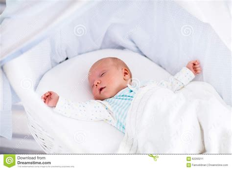 Baby Bed In Bed by Newborn Baby In White Bed Stock Photo Image 62293211