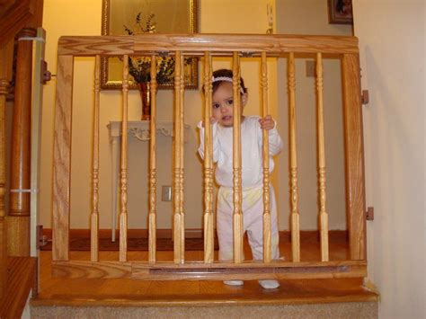 Wood Baby Gate For Stairs With Banister Best Baby Gates