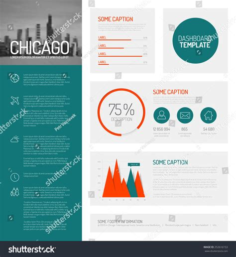 easy infographic template simple infographic dashboard template flat design stock