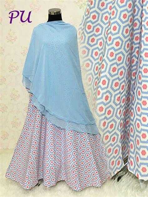 Gamis Crepe gamis crepe b139 soft blue butikjingga