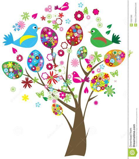 imagenes de flores y arboles easter tree stock vector illustration of life cartoon