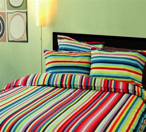 china colorful stripe printed bedding set b01006 china