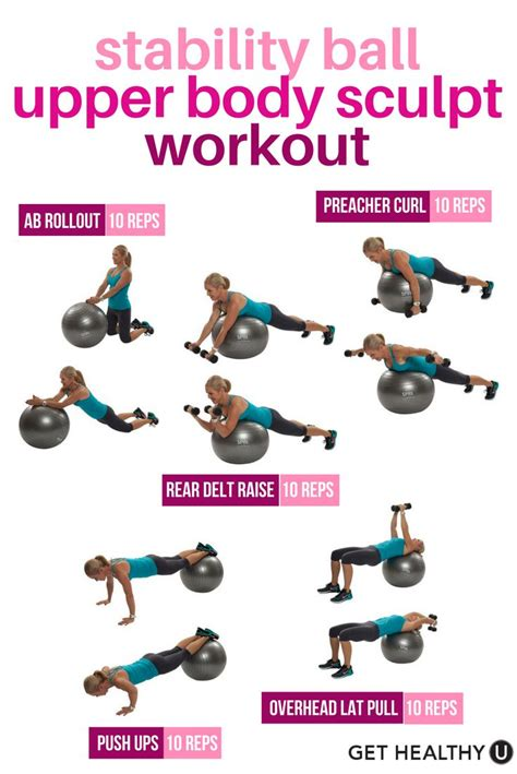 tone  entire upper body  abs   quick stability ball workout     lb