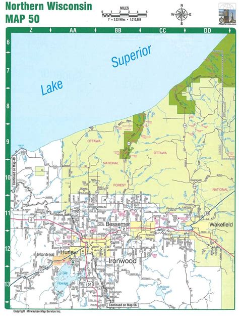 map of northern themapstore northern wisconsin atlas