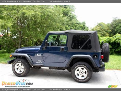 jeep wrangler dark grey 2003 jeep wrangler x 4x4 patriot blue dark slate gray