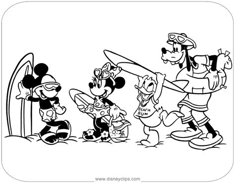 mickey mouse beach coloring pages mickey mouse friends coloring pages disney coloring book