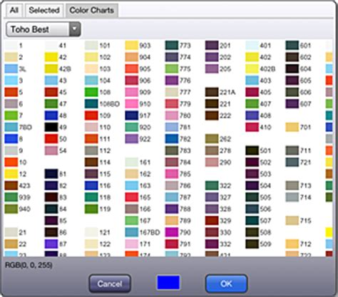 list of perler bead colors kg chart stitchsketch stitchsketch ver 1 04 now