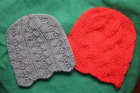 knitted chemo cap patterns free two feminine chemo caps charity clothing knitted my