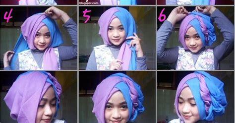 tutorial hijab untuk wisuda smp tutorial hijab segi empat 2 warna untuk wisuda dan lebaran