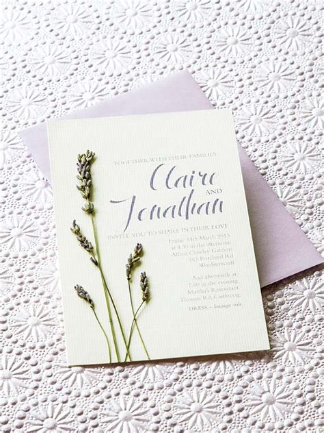 Wedding Invitations Lavender by Lavender Diy Wedding Invitations Modern Wedding