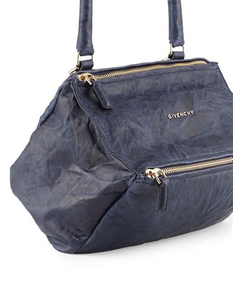 Givenchy Small Pandora givenchy pandora small shoulder leather shoulder bag blue