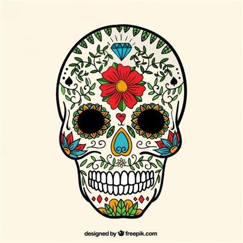 Mexikanischer Totenkopf Aufkleber by Cr 226 Ne De Sucre Peint 224 La Bone Heads Aka Skulls