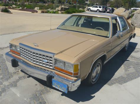 old car manuals online 1985 ford ltd crown victoria auto manual 1985 ford crown victoria ltd only 49 957 original california miles time capsule for sale ford